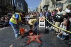 Estrela de Trump na calçada da fama de Hollywood é depredada (Kevork Djansezian/Getty Images/AFP)