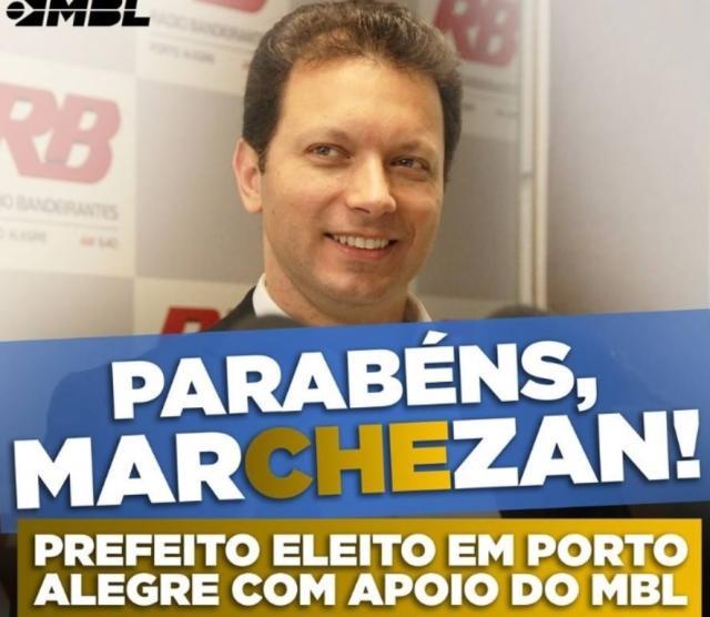 MBL parabeniza Marchezan e declara apoio ao novo prefeito de Porto Alegre Reprodução / ZH/ZH