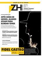 ZH atualiza edição digital do fim de semana com morte de Fidel Castro reprodução/Divulgação