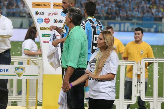 Grêmio será julgado na quarta-feira por invasão de Carol Portaluppi na final da Copa do Brasil Fernando Gomes/Agencia RBS