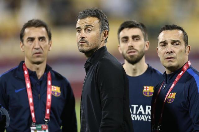 Precisando reverter o 3 a 0, Luis Enrique quer que o Barcelona marque cinco gols na Juventus KARIM JAAFAR/AFP