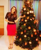 Com título de musa e há um ano na previsão do tempo, Brunna Colossi já ganhou presente do Papai Noel! Arquivo pessoal / Arquivo pessoal/Arquivo pessoal