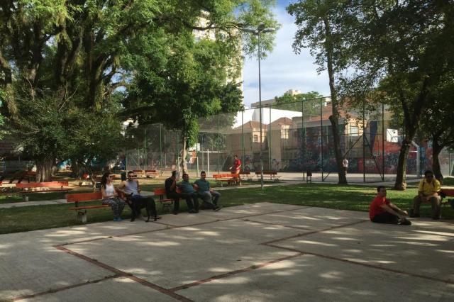 Zero Hora avalia situação de praças nos bairrosIndependência, Auxiliadora e Petrópolis Jéssica Rebeca Weber/Agência RBS