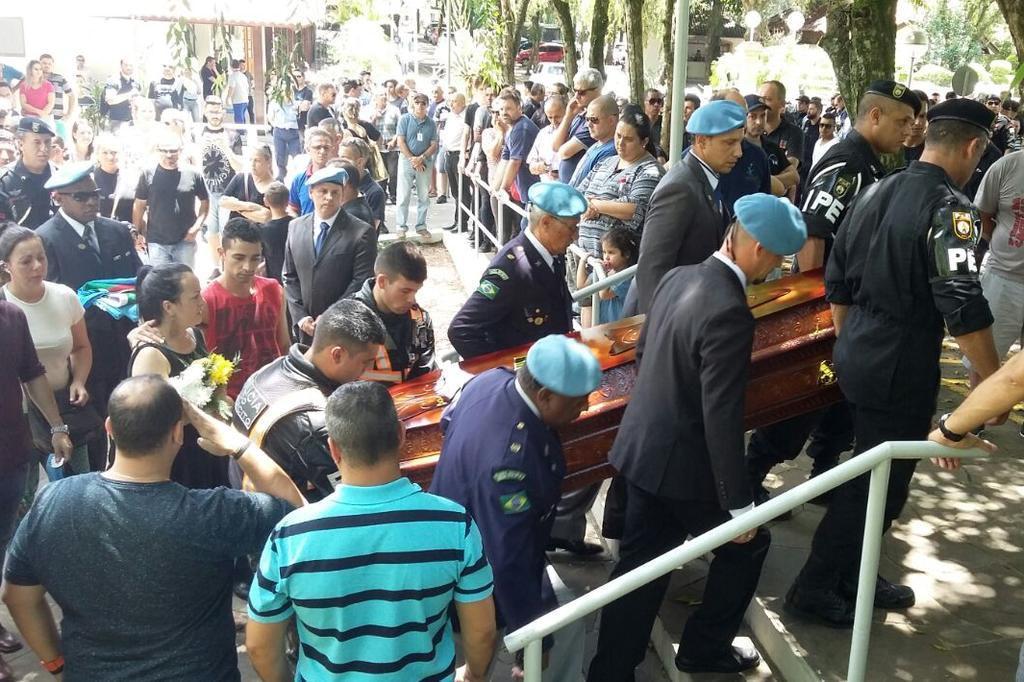 Agente da EPTC foi enterrado com honras militares em Canoas Aveape/ divulgação/Divulgação