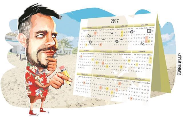Calendário de contas e folgas em 2017: organize-se para não entrar no vermelho no novo ano Arte / ZH/ZH