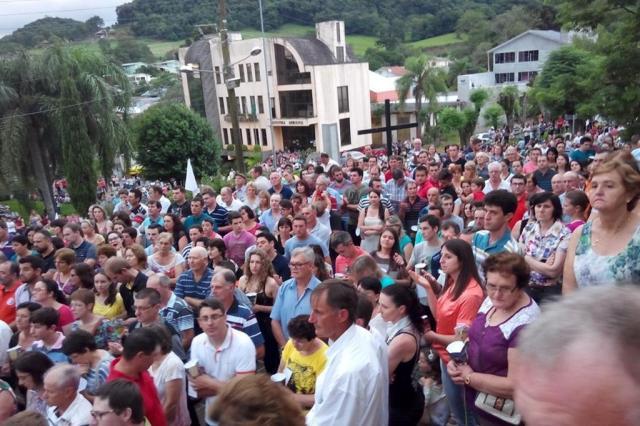 São Domingos do Sul, no norte do RS, espera multidão para romaria neste fim de semana Reprodução/Facebook