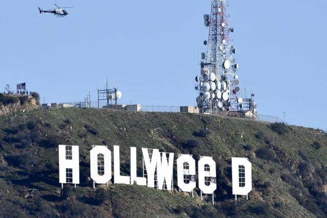 Suspeito de alterar letreiro de Hollywood se entrega à polícia Gene Blevins/AFP