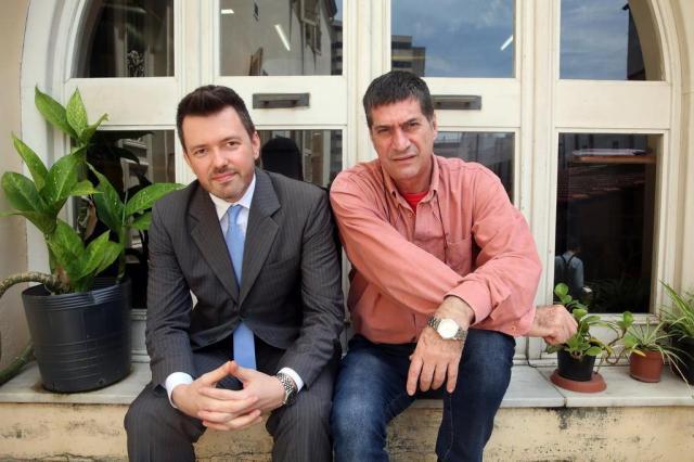 Secretário da Cultura da Capital, Luciano Alabarse, e o adjunto, Eduardo Wolf, explicam suas ideias para POA Tadeu Vilani/Agencia RBS
