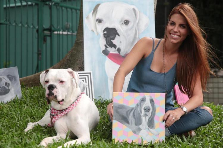 Conheça Paula Brenner, artista que retrata pets em telas André Ávila/Agencia RBS