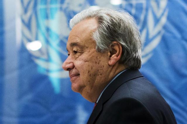 Na primeira viagem como secretário-geral da ONU, Guterres preside conferência sobre o Chipre EDUARDO MUNOZ ALVAREZ/AFP
