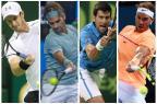 Um ano depois, Aberto da Austrália reúne Murray, Federer, Djokovic e Nadal outra vez Montagem sobre fotos / AFP/AFP