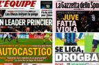 Derrotas de Real e Juve, liderança do Monaco: os destaques dos jornais esportivos desta segunda Montagem / Reprodução/Reprodução