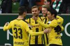Borussia Dortmund vence o Werder Bremen e sobe para quarto no Alemão Carmen Jaspersen/DPA/ AFP