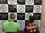 Pai e filho são presos em operação contra homicídios em Erechim Polícia Civil/ Divulgação/