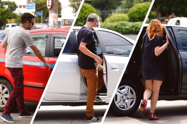 Teste ZH: comparamos o aplicativo do Sintáxi com o Cabify e o Uber Montagem sobre fotos de Isadora Neumann/Agencia RBS