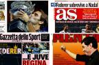 Título de Federer e vantagem da Juve: os destaques dos jornais esportivos desta segunda /