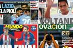 Vitória da Lazio e final antecipada na Espanha: os destaques dos jornais esportivos desta quarta /