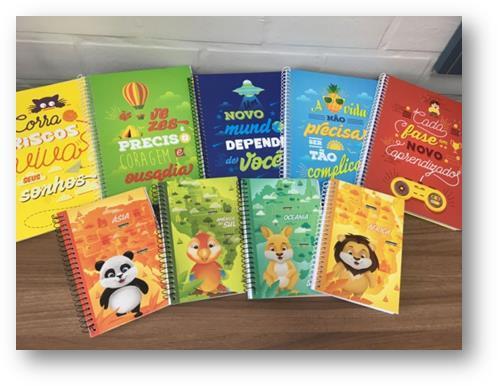 Fundação Marcopolo distribui cadernos para filhos de colaboradores Sabrina Calai, Marcopolo, DV/