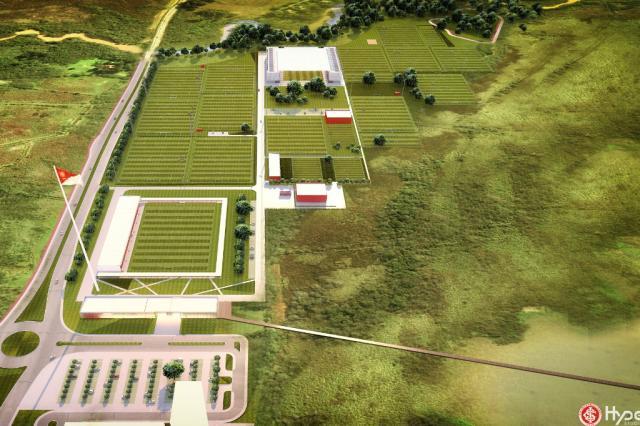 Inter apresenta à prefeitura de Guaíba o projeto do novo CT Hype Studio / Divulgação/Divulgação