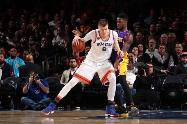 Porzingis cita falta de confiança no elenco do Knicks Nathaniel S. Butle/NBAE via Getty Images/AFP
