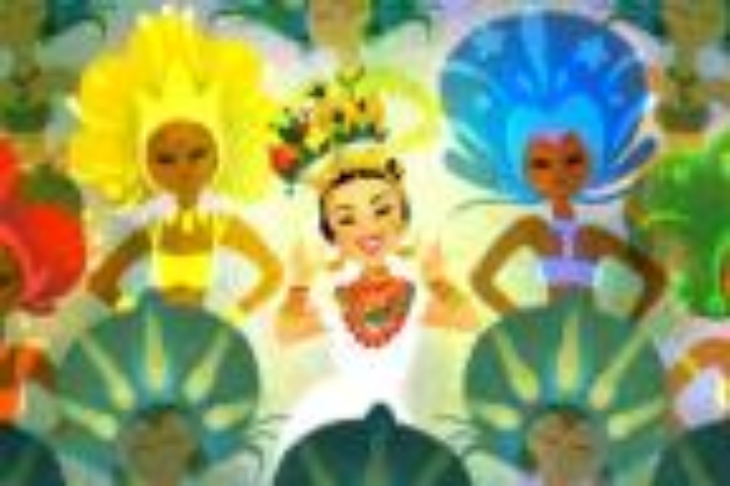 Google faz homenagem aos 108 anos de nascimento de Carmen Miranda Reprodução/Google