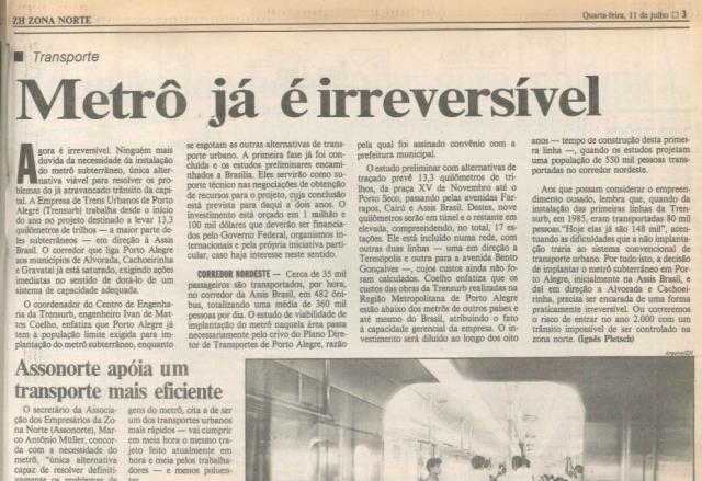 Estamos em obras: 10 obras prometidas que Porto Alegre nunca viu Reprodução / Agência RBS/Agência RBS