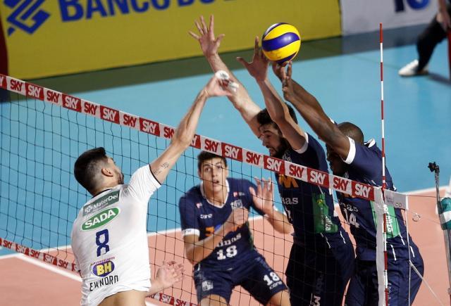 Sada Cruzeiro vence clássico mineiro contra o Minas Tênis Clube  Orlando Bento / Minas Tênis Clube / Divulgação /Minas Tênis Clube / Divulgação