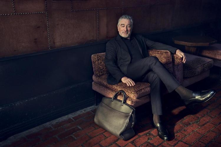 Robert De Niro posa pela primeira vez para uma grife de moda Ermenegildo Zegna/Divulgação