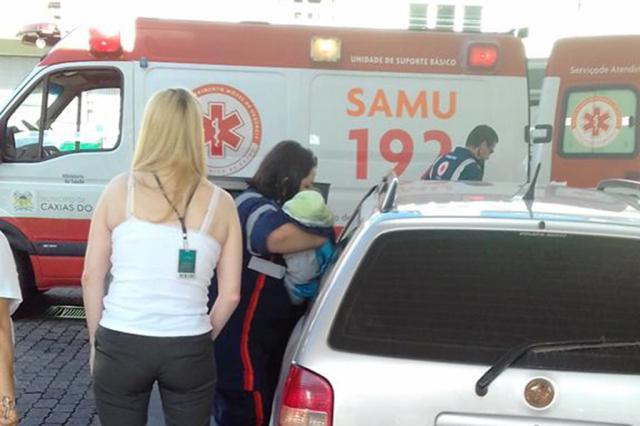 Parto de bebê começa em casa e termina em posto de combustíveis na área central de Caxias Reprodução / Facebook/Facebook