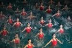 Festival com patinação e nado sincronizado acontece na Coreia do Norte