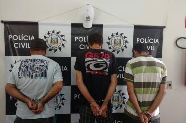Ação conjunta resulta em três presos e drogas apreendidas em Farroupilha Polícia Civil / Divulgação/Divulgação