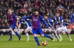 "Bauza vê Messi ""feliz no Barcelona"" JOSEP LAGO/AFP"
