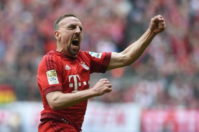 Ribéry volta a treinar no Bayern de Munique CHRISTOF STACHE/AFP