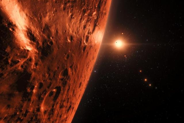 Descoberto túnel que seria usado para fuga de detentos, sistema de planetas semelhante ao da Terra e outras imagens do dia AFP/European Southern Observatory