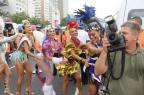 Com a presença de famosas, Bloco da Favorita recebe quase 80 mil foliões no Rio (Wallace Barbosa Marcos Fernandes/AgNews)