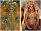 Viviane Araújo brilha na Sapucaí e é comparada a Beyoncé AgNews e AFP/