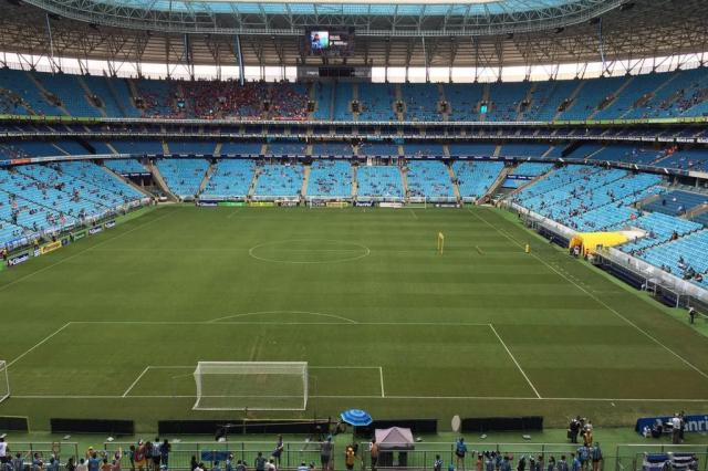 CBF estuda desistir do Chile e marcar Brasil e Equador na Arena Leandro Behs/Agência RBS