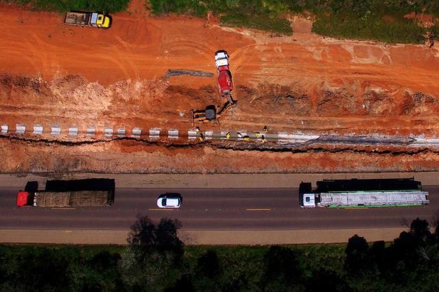 Prefeitos e empresários pressionam União por verbas para duplicação da BR-116, entre Guaíba e Pelotas Mateus Bruxel/Agencia RBS