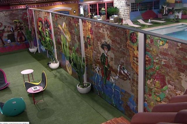 BBB ganha muro que cria lado mexicano e americano na casa TV Globo/Reprodução