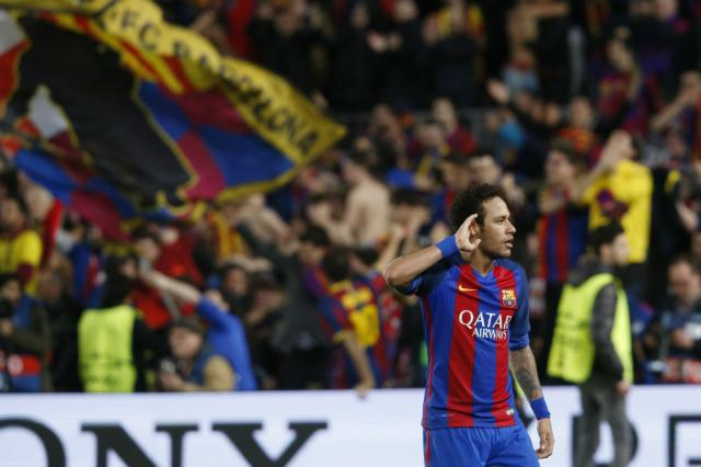 Neymar elogia equilíbrio do Campeonato Inglês e não descarta futuro no Reino Unido Pau Barrena / AFP/AFP