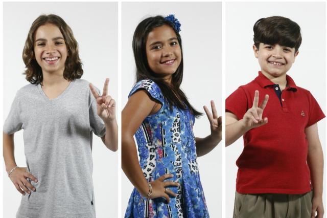 """Trio gaúcho testa sua popularidade a partir deste domingo, no """"The Voice Kids"""", nos shows ao vivo! Saiba tudo Montagem sobre fotos de Camila Domingues/Especial"""