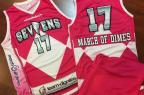 Time da liga de desenvolvimento da NBA usará uniformes inspirados nos Power Rangers Delaware 87ers / Divulgação/Divulgação