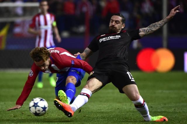 Atlético de Madrid segura o BayerLeverkusen e passa às quartas de final da Liga dos Campeões GERARD JULIEN/AFP