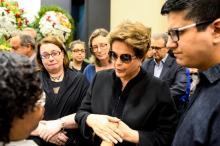 """Dilma sobre Lícia Peres: """"Quando os grandes amigos morrem, a gente fica mais sozinho"""" Henrique Ferreira Bregão / CMPA/"""
