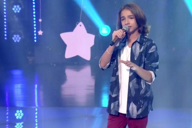 """""""The Voice Kids"""": participante gaúcho é escolhido pelo público com 53% dos votos Gshow/Reprodução"""