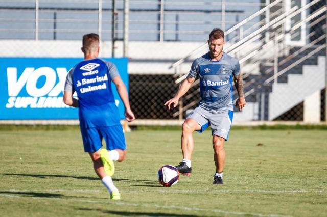 Com coletivo entre reservas e transição, Grêmio se reapresenta Lucas Uebel / Divulgação Grêmio/Divulgação Grêmio