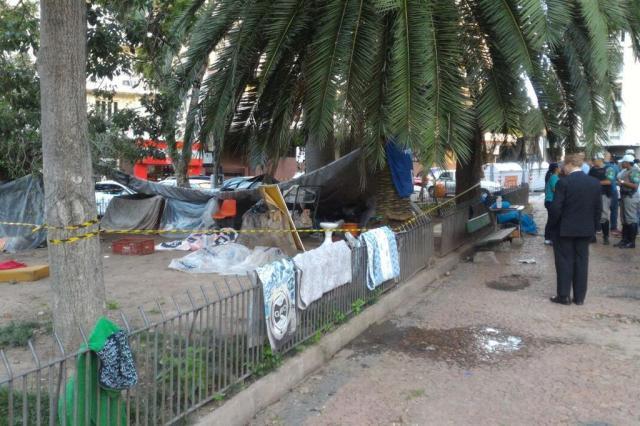 Morador de rua é assassinado na Praça da Matriz, no centro de Porto Alegre Anderson Fetter/Agencia RBS