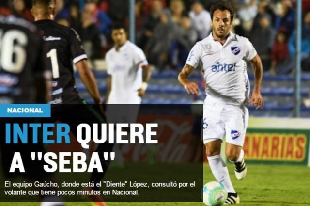 Inter faz consulta pelo volante Sebastián Rodríguez, diz jornal uruguaio Reprodução / Ovación Digital/Ovación Digital