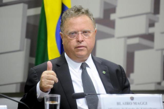 Ministro Blairo Maggi nega ter colocado cargo à disposição de Temer Geraldo Magela/Agência Senado