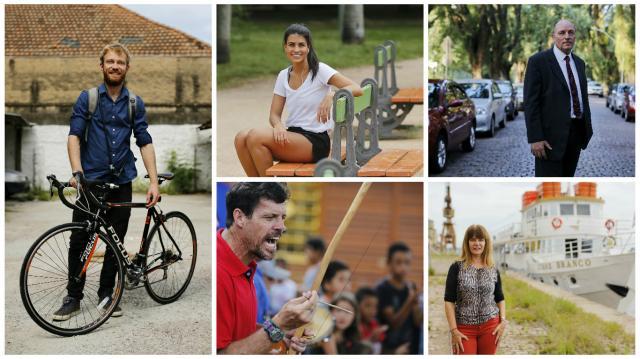 Matéria-prima de Porto Alegre: veja cinco histórias de quem faz a cidade Montagem sobre fotos de Mateus Bruxel/
